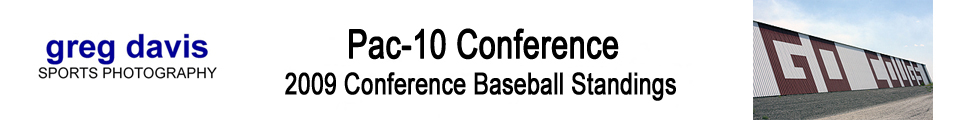 2009 Pac-10 Conference Baseball Standings